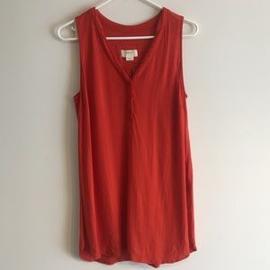 MAEVE BY ANTHROPOLOGIE TUNIC TANK WITH SIDE SLITS